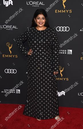 Punam Patel arrives at the 2019 Performers Nominee Reception presented by the Television Academy at the Wallis Annenberg Center for the Performing Arts, in Beverly Hills, Calif