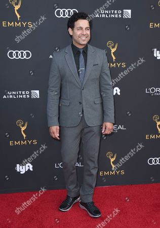 Jon Huertas arrives at the 2019 Performers Nominee Reception presented by the Television Academy at the Wallis Annenberg Center for the Performing Arts, in Beverly Hills, Calif