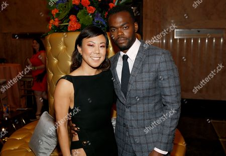 Ali Ahn, William Jackson Harper. Ali Ahn, left, and William Jackson Harper attend the 2019 Performers Nominee Reception presented by the Television Academy at the Wallis Annenberg Center for the Performing Arts, in Beverly Hills, Calif
