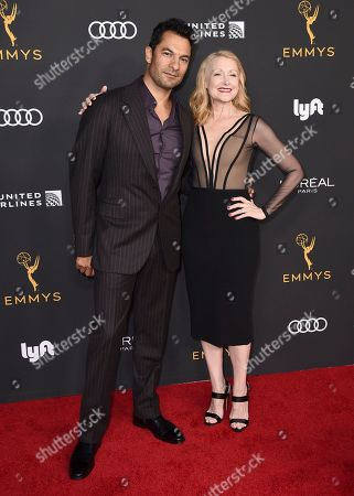 Darwin Shaw, Patricia Clarkson. Darwin Shaw, left, and Patricia Clarkson arrive at the 2019 Performers Nominee Reception presented by the Television Academy at the Wallis Annenberg Center for the Performing Arts, in Beverly Hills, Calif