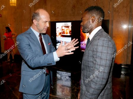Eric Lange, William Jackson Harper. Eric Lange, left, and William Jackson Harper attend the 2019 Performers Nominee Reception presented by the Television Academy at the Wallis Annenberg Center for the Performing Arts, in Beverly Hills, Calif