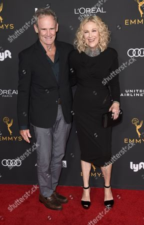Bo Welch, Catherine O'Hara. Bo Welch, left, and Catherine O'Hara arrive at the 2019 Performers Nominee Reception presented by the Television Academy at the Wallis Annenberg Center for the Performing Arts, in Beverly Hills, Calif