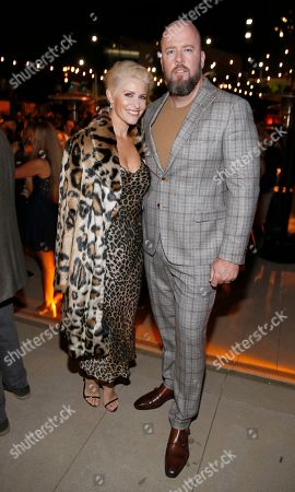 Rachel Reichard, Chris Sullivan. Rachel Reichard, left, and Chris Sullivan attend the 2019 Performers Nominee Reception presented by the Television Academy at the Wallis Annenberg Center for the Performing Arts, in Beverly Hills, Calif