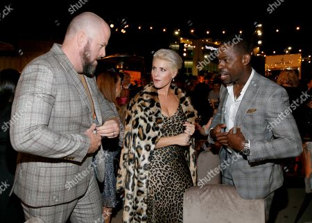Chris Sullivan, Rachel Reichard, Sterling K. Brown. Chris Sullivan, from left, Rachel Reichard, and Sterling K. Brown attend the 2019 Performers Nominee Reception presented by the Television Academy at the Wallis Annenberg Center for the Performing Arts, in Beverly Hills, Calif