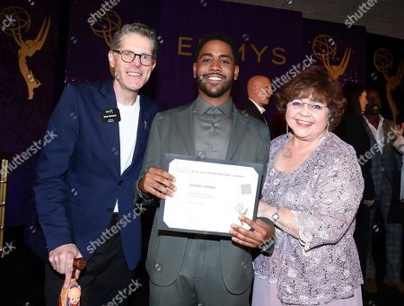 Bob Bergen, Jharrel Jerome, Patrika Darbo. Bob Bergen, from left, Jharrel Jerome, and Patrika Darbo attend the 2019 Performers Nominee Reception presented by the Television Academy at the Wallis Annenberg Center for the Performing Arts, in Beverly Hills, Calif