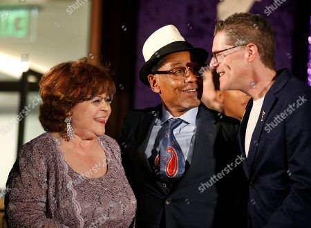 Patrika Darbo, Giancarlo Esposito, Bob Bergen. Performer Peer Group Governors Patrika Darbo, left, and Bob Bergen, right, pose with Emmy nominee Giancarlo Esposito, center, at the 2019 Performers Nominee Reception presented by the Television Academy at the Wallis Annenberg Center for the Performing Arts, in Beverly Hills, Calif