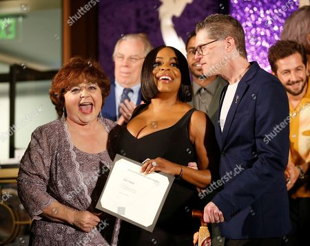 Patrika Darbo, Niecy Nash, Bob Bergen. Performer Peer Group Governors Patrika Darbo, left, and Bob Bergen, right, pose with Emmy nominee Niecy Nash, center, at the 2019 Performers Nominee Reception presented by the Television Academy at the Wallis Annenberg Center for the Performing Arts, in Beverly Hills, Calif