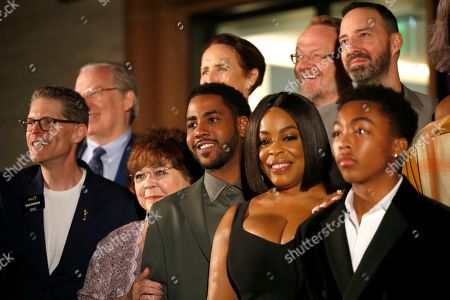 Bob Bergen, Patrika Darbo, Jharrel Jerome, Niecy Nash, Asante Blackk. Performer Peer Group Governors Bob Bergen, from left, and Patrika Darbo, with Emmy nominees Jharrel Jerome, Niecy Nash, and Asante Blackk at the 2019 Performers Nominee Reception presented by the Television Academy at the Wallis Annenberg Center for the Performing Arts, in Beverly Hills, Calif