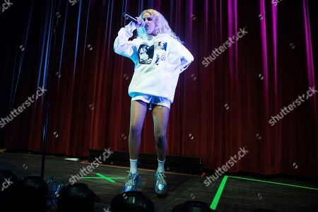 Stock Photo of Tommy Genesis performs on stage at the Buckhead Theatre, in Atlanta