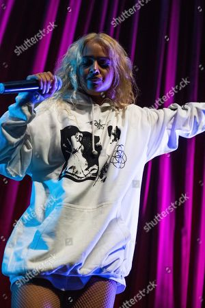 Tommy Genesis performs on stage at the Buckhead Theatre, in Atlanta