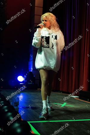 Stock Picture of Tommy Genesis performs on stage at the Buckhead Theatre, in Atlanta