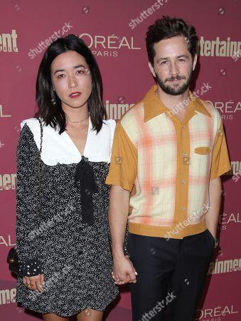 Michael Angarano and Maya Erskine