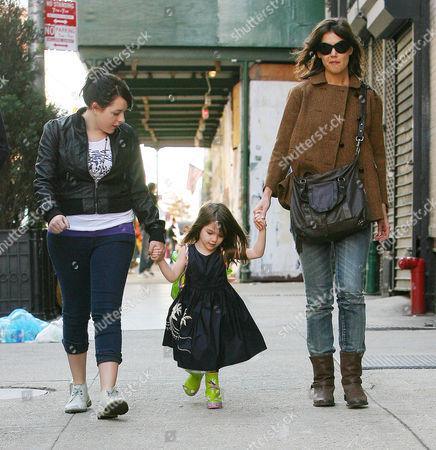 Stock Photo of Isabella Cruise, Suri Cruise and Katie Holmes