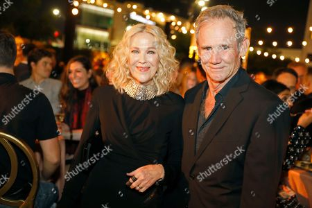 Catherine O'Hara, Bo Welch. Catherine O'Hara, left, and Bo Welch toast at the Performer's Nominee Reception with Ketel One Family Made Vodka, the Official Spirits Partner of the 71st Emmy Awards Season, on at the Wallis Annenberg Center for the Performing Arts in Beverly Hills, Calif