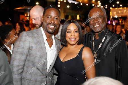 Sterling K. Brown, Niecy Nash, Glynn Turman. Sterling K. Brown, from left, Niecy Nash, and Glynn Turman toast at the Performer's Nominee Reception with Ketel One Family Made Vodka, the Official Spirits Partner of the 71st Emmy Awards Season, on at the Wallis Annenberg Center for the Performing Arts in Beverly Hills, Calif