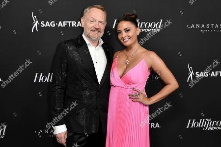 Jared Harris, Allegra Riggio. Jared Harris, left, and Allegra Riggio attend the 2019 Primetime Emmy Awards - THR Emmy Nominees party at Avra, in Beverly Hills, Calif