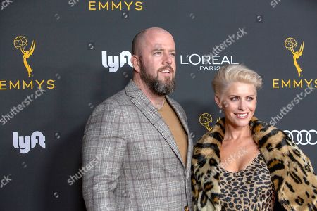 Chris Sullivan (L) and wife Rachel Reichard arrive for the Television Academy Honors Emmy Nominated Performers at the Wallis Annenberg Center for the Performing Arts in Beverly Hills, California, USA, 20 September 2019. The reception honors those that have been nominated for an Emmy Award.
