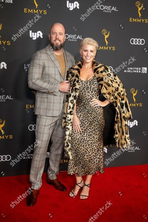 Chris Sullivan (L) with wife Rachel Reichard (R) arrive for the Television Academy Honors Emmy Nominated Performers at the Wallis Annenberg Center for the Performing Arts in Beverly Hills, California, USA, 20 September 2019. The reception honors those that have been nominated for an Emmy Award.