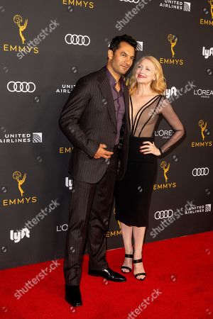 Darwin Shaw (L) and Patricia Clarkson (R) arrive for the Television Academy Honors Emmy Nominated Performers at the Wallis Annenberg Center for the Performing Arts in Beverly Hills, California, USA, 20 September 2019. The reception honors those that have been nominated for an Emmy Award.