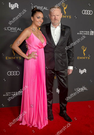 Jared Harris (R) and wife Allegra Riggio (L) arrive for the Television Academy Honors Emmy Nominated Performers at the Wallis Annenberg Center for the Performing Arts in Beverly Hills, California, USA, 20 September 2019. The reception honors those that have been nominated for an Emmy Award.