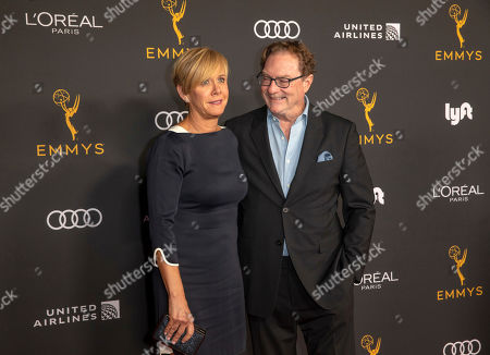 Stephen Root (R) and wife Romy Rosemont (L) arrive for the Television Academy Honors Emmy Nominated Performers at the Wallis Annenberg Center for the Performing Arts in Beverly Hills, California, USA, 20 September 2019. The reception honors those that have been nominated for an Emmy Award.