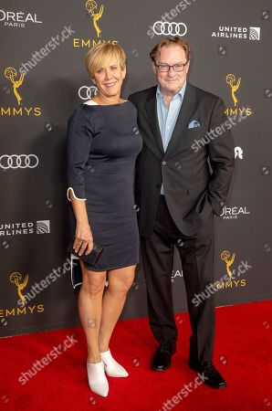 Stock Picture of Stephen Root (R) and wife Romy Rosemont (L) arrive for the Television Academy Honors Emmy Nominated Performers at the Wallis Annenberg Center for the Performing Arts in Beverly Hills, California, USA, 20 September 2019. The reception honors those that have been nominated for an Emmy Award.