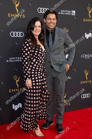 Jon Huertas (R) and wife Nicole Huertas arrive for the Television Academy Honors Emmy Nominated Performers at the Wallis Annenberg Center for the Performing Arts in Beverly Hills, California, USA, 20 September 2019. The reception honors those that have been nominated for an Emmy Award.