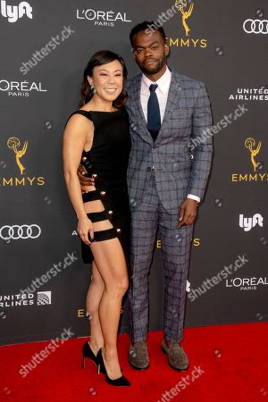 Ali Ahn (L) and William Jackson Harper (R) arrive for the Television Academy Honors Emmy Nominated Performers at the Wallis Annenberg Center for the Performing Arts in Beverly Hills, California, USA, 20 September 2019. The reception honors those that have been nominated for an Emmy Award.