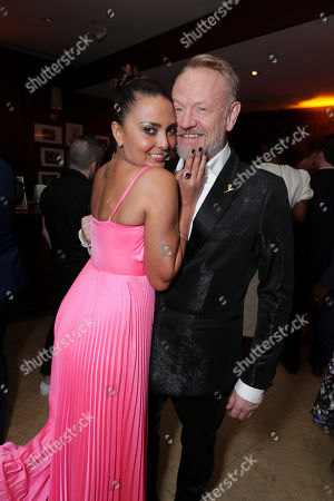 Allegra Riggio and Jared Harris attend the 2019 Pre-Emmy Party hosted by Entertainment Weekly and L'Oreal Paris at Sunset Tower Hotel in Los Angeles on Friday, September 20, 2019.