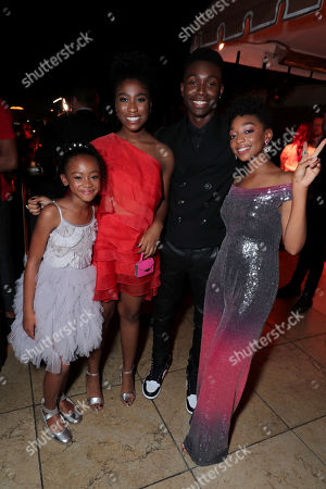 Faithe Herman, Lyric Ross, Niles Fitch and Eris Baker attend the 2019 Pre-Emmy Party hosted by Entertainment Weekly and L'Oreal Paris at Sunset Tower Hotel in Los Angeles on Friday, September 20, 2019.