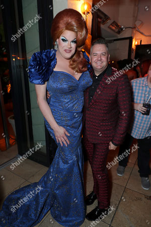 Nina West and Ross Mathews attend the 2019 Pre-Emmy Party hosted by Entertainment Weekly and L'Oreal Paris at Sunset Tower Hotel in Los Angeles on Friday, September 20, 2019.