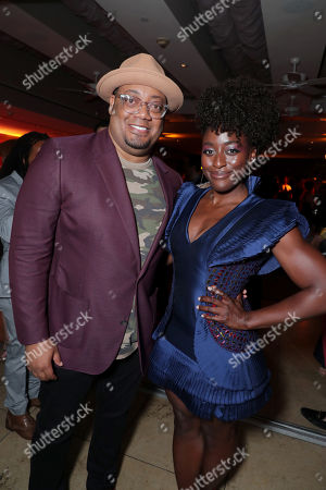 Stock Photo of Guest and Ito Aghayere attend the 2019 Pre-Emmy Party hosted by Entertainment Weekly and L'Oreal Paris at Sunset Tower Hotel in Los Angeles on Friday, September 20, 2019.