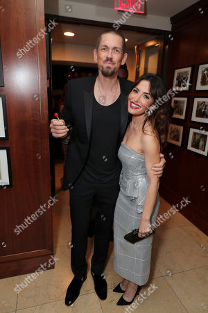 Stock Photo of Steve Howey and Sarah Shahi attend the 2019 Pre-Emmy Party hosted by Entertainment Weekly and L'Oreal Paris at Sunset Tower Hotel in Los Angeles on Friday, September 20, 2019.
