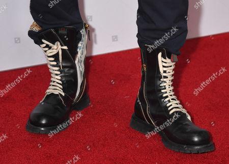 French Montana, shoe detail