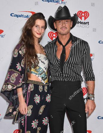 Audrey McGraw and Tim McGraw
