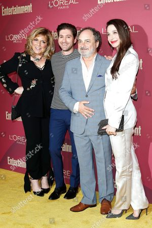 Caroline Aaron, Michael Zegen, Kevin Pollak and Marin Hinkle arrive for the 2019 Pre-Emmy Party hosted by Entertainment Weekly and L'Oreal Paris at the Sunset Tower Hotel in West Hollywood, California, USA, late 20 September 2019.