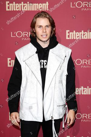 Logan Shroyer arriving for the 2019 Pre-Emmy Party hosted by Entertainment Weekly and L'Oreal Paris at the Sunset Tower Hotel in West Hollywood, California, USA, late 20 September 2019.