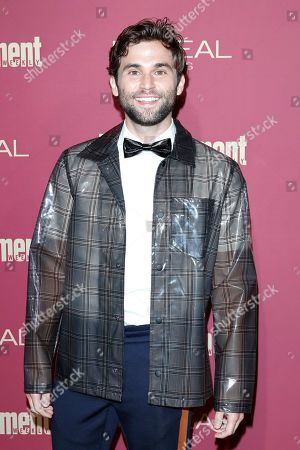 Jake Borelli arrives for the 2019 Pre-Emmy Party hosted by Entertainment Weekly and L'Oreal Paris at the Sunset Tower Hotel in West Hollywood, California, USA, late 20 September 2019.