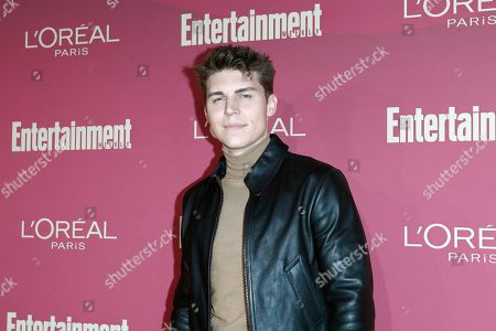 Nolan Gerard Funk arrives for the 2019 Pre-Emmy Party hosted by Entertainment Weekly and L'Oreal Paris at the Sunset Tower Hotel in West Hollywood, California, USA, late 20 September 2019.
