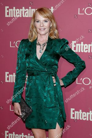 Marg Helgenberger arrives for the 2019 Pre-Emmy Party hosted by Entertainment Weekly and L'Oreal Paris at the Sunset Tower Hotel in West Hollywood, California, USA, late 20 September 2019.