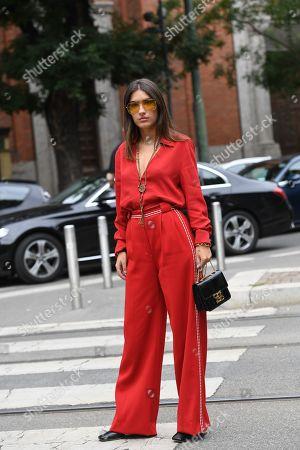 Editorial image of Street Style, Spring Summer 2020, Milan Fashion Week, Italy - 19 Sep 2019