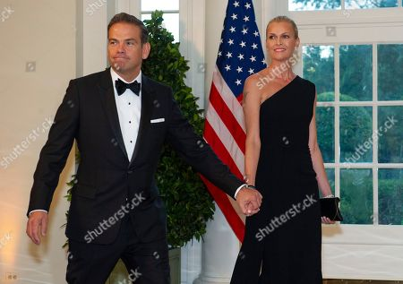 Fox Corporation Chief Executive Officer and Co-Chairman of News Corp Lachlan Murdoch and Sarah Murdoch arrive at the White House