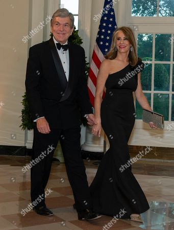 United States Senator Roy Blunt (Republican of Missouri) and Abigail Blunt arrive at the White House