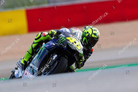 Italian MotoGP rider Valentino Rossi of Monster Energy in action during the free  training session of the Motorcycling Grand Prix of Aragon at the MotorLand Aragon circuit in Alcaniz, northeastern Spain, 20 September 2019.