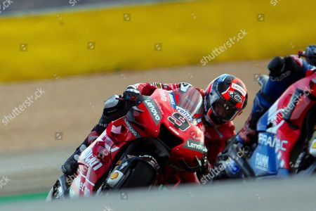 Italian MotoGP rider Danilo Petrucci of Ducati in action during the free  training session of the Motorcycling Grand Prix of Aragon at the MotorLand Aragon circuit in Alcaniz, northeastern Spain, 20 September 2019.
