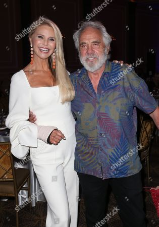 Christie Brinkley and Tommy Chong
