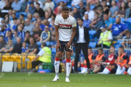 Ashley Fletcher (11) of Middlesbrough during the EFL Sky Bet Championship match between Cardiff City and Middlesbrough at the Cardiff City Stadium, Cardiff