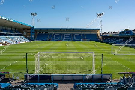 General view inside the Priestfield Stadium from the Brian Moore Stand (away end) before  the EFL Sky Bet League 1 match between Gillingham and Ipswich Town at the MEMS Priestfield Stadium, Gillingham