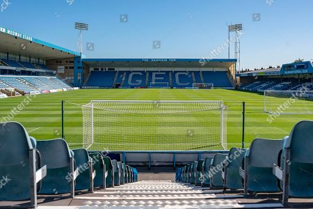 Stock Photo of General view inside the Priestfield Stadium from the Brian Moore Stand (away end) the EFL Sky Bet League 1 match between Gillingham and Ipswich Town at the MEMS Priestfield Stadium, Gillingham