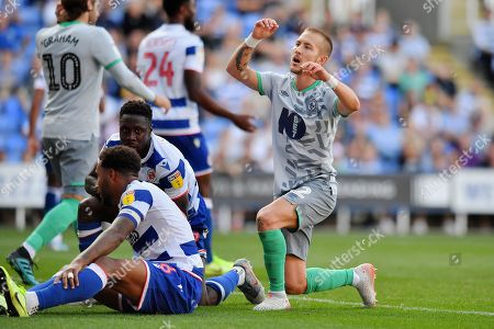 Blackburn Rovers midfielder Lewis Holtby (22) rues a missed chance during the EFL Sky Bet Championship match between Reading and Blackburn Rovers at the Madejski Stadium, Reading